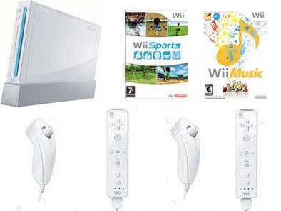 Nintendo Wii 2 Player Wii Music Bundle