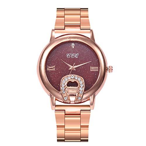 Winsummer Womens Quartz Watch Rose Gold Stainless Steel Dial Analogue Quartz Lady Dress Watch by Winsummer (Image #2)
