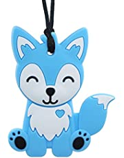 Sensory Chew Necklace for Kids, Boys and Girls - Fox Chewable Necklace for Teething, Autism, Biting, ADHD, SPD, Chewing Foxy Sensory Motor Aids Teether Pendant