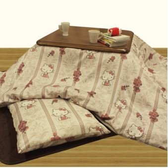 [Hello Kitty Kotatsu (Japanese foot warmer) futon cover For 75-80cm MADE IN JAPAN] (Cast Member Costumes Disneyland)