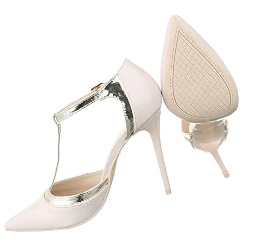 7217c93b725f Damen Pumps Schuhe High Heels Stöckelschuhe Stiletto Pink Pink Beige Schwarz  Rot 36 37 38 39 ...