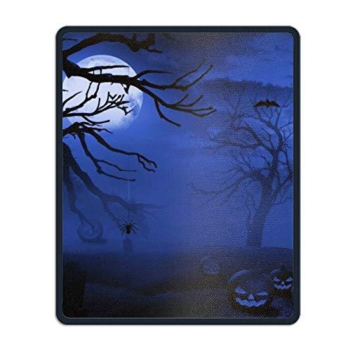 Holiday Halloween Night Jack-o-Lantern Graveyard Moon Bat Blue