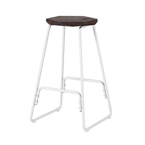 Amazon.com: Elegante y moderno taburete de hierro para sala ...