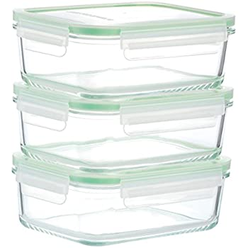 Kinetic GoGREEN Glassworks Series 6 Piece Rectangular Oven Safe Glass Food  Storage Container Set 30