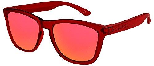 Style Rétro transparent rouge CRUZE® X Rouge femme Rétro Vintage Lunettes de 066 miroir femmes unisexe soleil orange hommes polarisées foncé homme 9 Nerd pYAqAg1czy