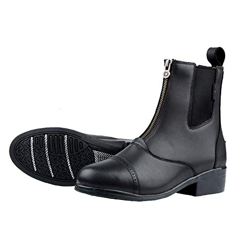 (Dublin Ladies Apex Zip Paddock Boot 6.5 Black )