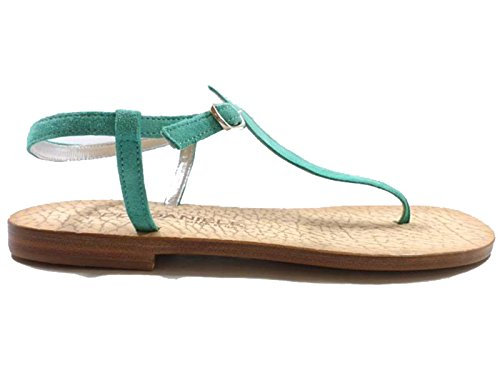 Zapatos Mujer EDDY DANIELE 37 EU Sandalias Verde Gamuza AW107