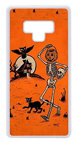 Custom Samsung Galaxy Note 9 Case - Pumpkin Pail Head Skull owl Hard Plastic Phone Cell Case for Samsung Galaxy Note ()