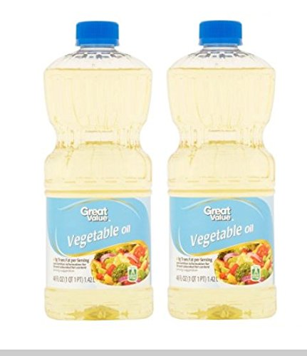 Great Value Vegetable Oil, Perfect For Frying 48 Oz (Pack of (Vegetable Oil Frying)
