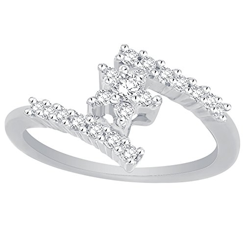 Giantti Women's 14KT Diamond Cocktail Ring-IGL Certified (0.22Ct,I1 Clarity,GH-Colour) by Giantti