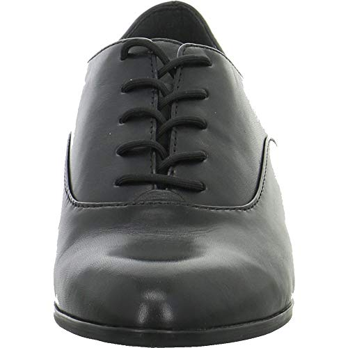 Negro Tamaris Cordones 21 Mujer Piel Zapatos Lisa De Para 23203 gqPwF1T