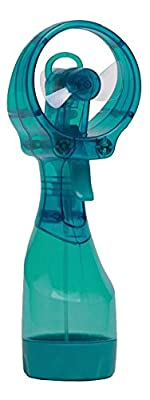 O2cool Deluxe Battery-operated Handheld Water-misting Fan, High Pressure Personal Mister, for Home and Travel(teal)