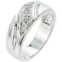 Men's 925 Sterling Silver Diamond Wedding Band