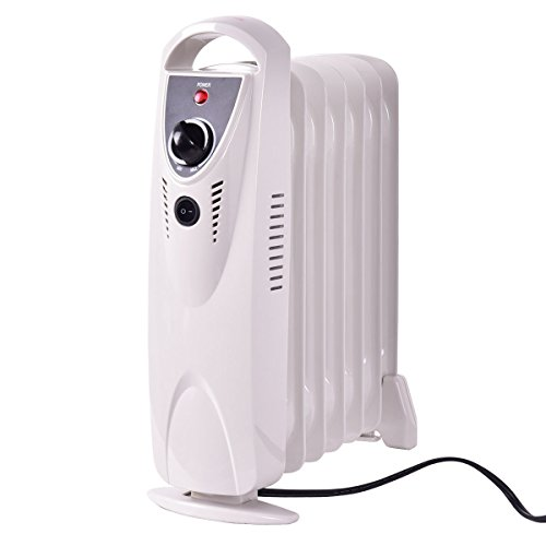 Electric Oil Filled Radiator Heater Thermostat Room Radiant Heat New Portable 700W