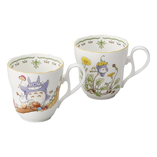 Noritake X Studio Ghibli Neighbor Totoro Pair Mug Cup TP97855/4924-37 (Noritake Fine China Japan)