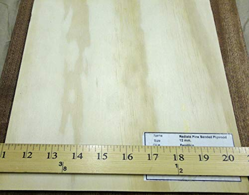 "Radiata Pine wood veneer panel 9"" x 9"" x 7/16"" plywood board 5 ply veneer core"