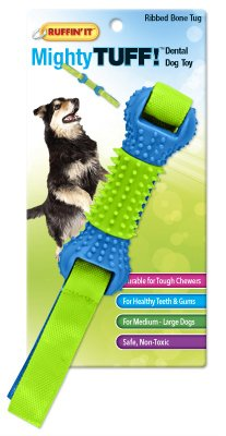 Westminster Pet Products 80622 Mighty Tuff Ribbed Flappy Bone Dog Toy