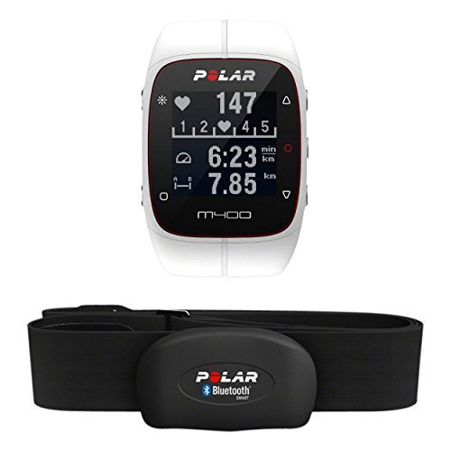 POLAR Trainingscomputer M400 HR, Weiß, 90051347