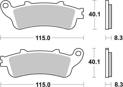 Honda CB 1100 X-11 00 01 02 03 SBS Performance avant C/éramique Plaquettes de Frein Set Qualit/é Origine 735hf