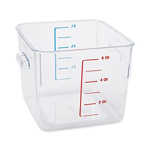 FG630600CLR Rubbermaid Commercial Carb X Space Saving Square Food Storage