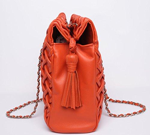 Josephine Osthoff Handtaschen-Manufaktur, Borsa a tracolla donna Arancione Papaya one size