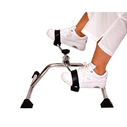 vaunn medical pedal exerciser chrome frame fully