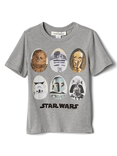 Baby Gap X Junk Food: Star Wars Shirt Featuring Chewbacca, R2-D2, C-3PO, Stormtrooper, Boba Fett, and Darth Vader for Kids 5 Years Old 42-45