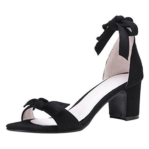 Femmes Sandales Bout Black Coolcept Ouvert Chaussures wBtxqq1