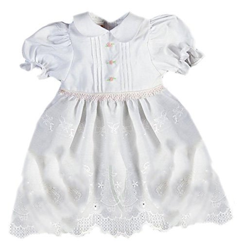 (Rosalina White Lace Girl Pintuck Smocked Doll Dress 5509DD Dolls & Accessories)