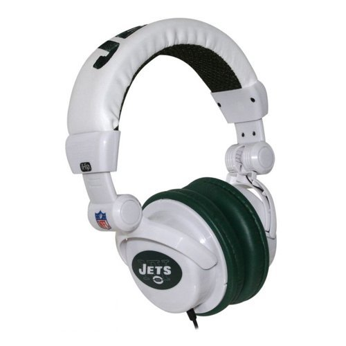 Mp3 Headphones Dj Ipod (iHip NFH22NYJ NFL New York Jets DJ Style Headphones, Green/White)
