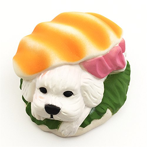(1 piece Jumbo Hamburger Dog Squishy Dessert Home Figuriness Puppy Doll Bread Squeeze Slow Rising Soft Scented Cake Toys)