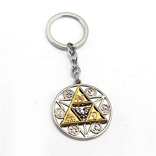 DoubleChin Zelda Triforce Keychain - Triforce Medallion Keychain from DoubleChin
