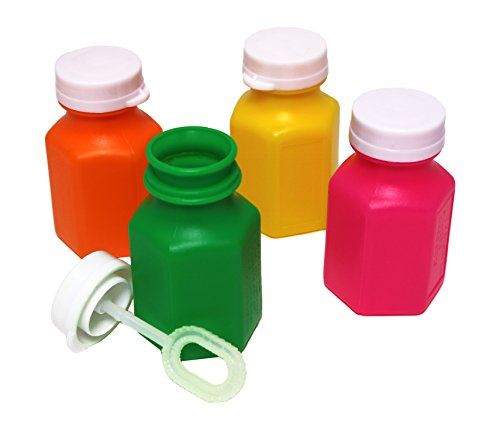 SNInc. Neon Bubble Bottles - Pack of 24 Party Bubbles