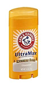 ARM & HAMMER ULTRAMAX Anti-Perspirant Deodorant Solid Unscented 2.60 oz (Pack of 12)