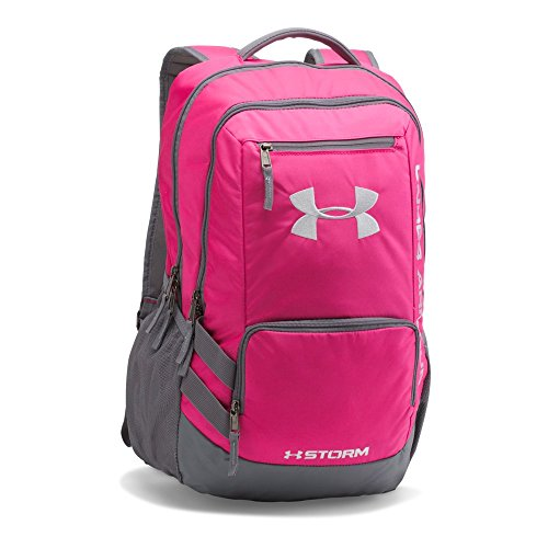 (Under Armour Hustle 2.0 Backpack, Tropic Pink (654)/White, One Size)