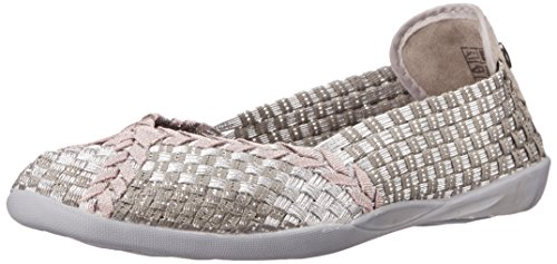 Bernie Mev Women's Braided Catwalk Silver Grey/Rose Gold Flats - 38 M EU / 7.5 B(M) US