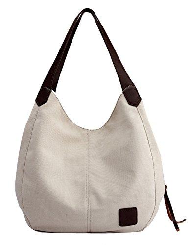 Seaoeey Marfil para al hombro mujer Bolso Crema Blanco crema blanco Medium X6waq6rtx