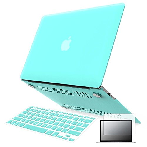 Raidfox MacBook Air 13 3-in-1 Accessories Rubberized Plastic Hard Case and Soft Silicone Keyboard Cover HD Clear Screen Protector for Apple Mac Book Air 13.3