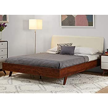 Amazon Com Simple Living Cassie Mid Century Queen Bed