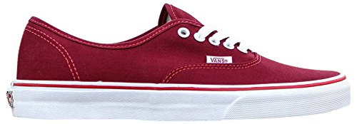 Vans Unisex Pop Check Authentic Skate Shoe Rhubarb / Bittersweet Red QAJj8