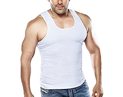 Dixcy Scott Men's Designer Ribbed Cotton Seleveless Vest Pack of 5 Men's Underwear Vests at amazon