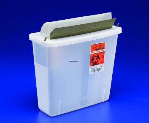Shrps Container 5Quart QT Mailbox Lid Part No. 85121 KENDALL HEALTHCARE PROD. by Kendall/Covidien by Covidien (Image #1)