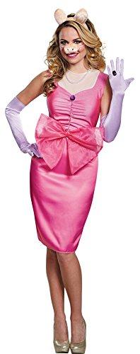 Miss Piggy Adult Costumes - Womens Halloween Costume- Miss Piggy Deluxe Adult Costume Medium 8-10