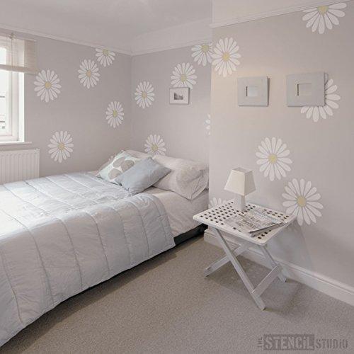 The Stencil Studio Daisy Flower Stencil - Reusable Stencil - Size Medium The Stencil Studio Ltd