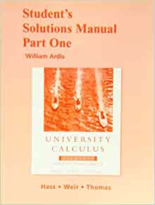 university calculus hass weir thomas solutions manual pdf