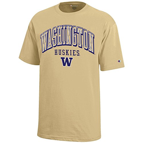 (NCAA Champion Boy's Short Sleeve Jersey T-Shirt Washington Huskies X-Large )