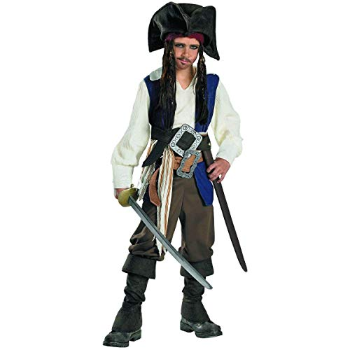 Captain Jack Sparrow Deluxe Child Costume - Small (4-6) -