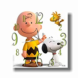 ART TIME PRODUCTION Snoopy 11'' Handmade Wall Clock - Get Unique décor for Home or Office – Best Gift Ideas for Kids, Friends, Parents and Your Soul Mates