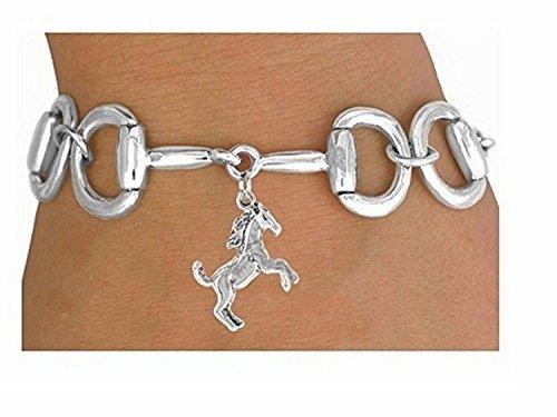 Bit-link Bracelet & Wild Stallion Charm by Lonestar Jewelry
