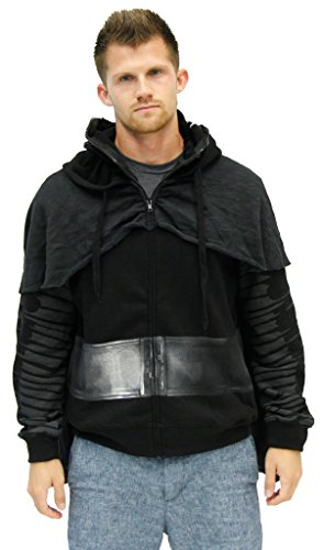 Star Wars I Am Kylo Ren Zip Up Costume Hoodie, XX-Large Black -
